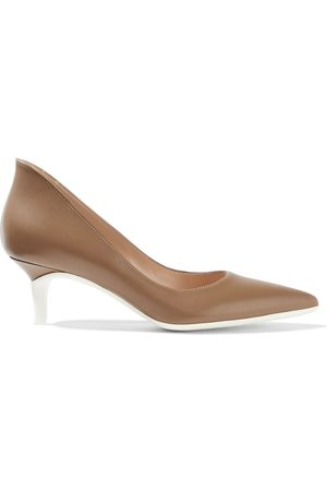 GIANVITO ROSSI Woman Alpha 55 Two-tone Leather Pumps Light Size 36.5