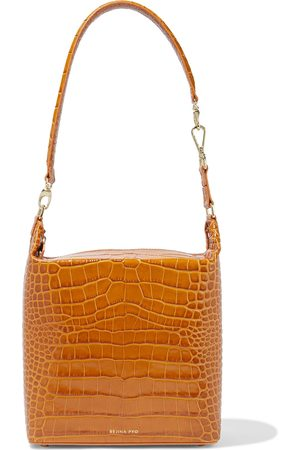 REJINA PYO Woman Lucie Croc-effect Leather Shoulder Bag Mustard Size