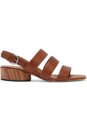 Salvatore Ferragamo Woman Trezze Leather Slingback Sandals Size 5.5