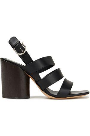 SALVATORE FERRAGAMO Woman Trezze 85 Leather Slingback Sandals Size 4.5
