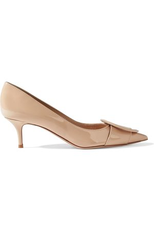 GIANVITO ROSSI Woman Ruby 55 Buckled Patent-leather Pumps Blush Size 34