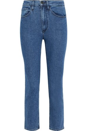 3X1 Woman Colette Cropped High-rise Skinny Jeans Mid Denim Size 24