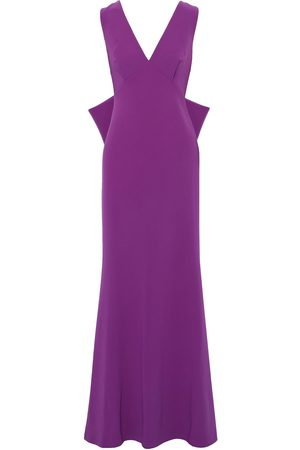SACHIN & BABI Woman Danalyn Fluted Bow-embellished Cady Gown Violet Size 0