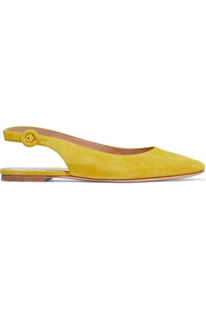 GIANVITO ROSSI Woman Tish 05 Suede Slingback Flats Marigold Size 34.5