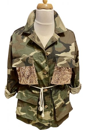 SOUVENIR Khaki Cotton Trench Coats