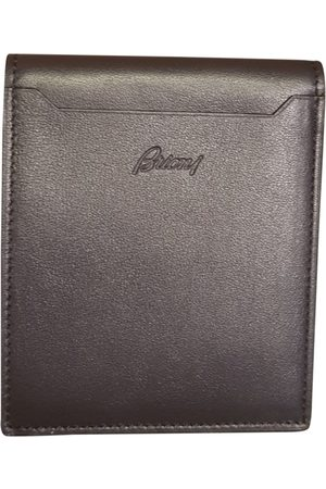 BRIONI Men Wallets - Navy Leather Small Bags, Wallets & Cases