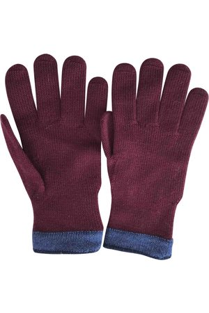 Kenzo Burgundy Wool Gloves