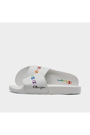 Champion IPO Rainbow Logo Slide Sandals in / Size 8.0