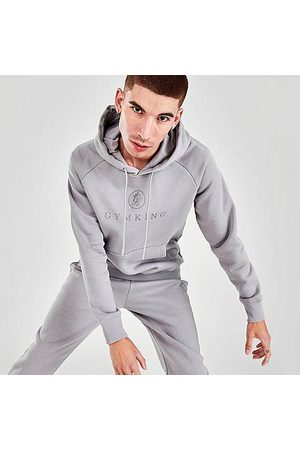 Gym King Men's Pro Logo Hoodie in Grey/ Size Small Cotton/Polyester/Fleece