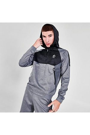 Gym King Men's Focus Quarter-Zip Hoodie in Grey/Charcoal Size Small 100% Polyester
