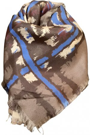Roberto Cavalli Grey Silk Scarves