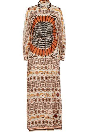 Tory Burch Printed cotton-blend shirt dress