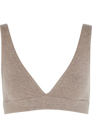 Lisa Yang Cappuccine taupe cashmere bra top