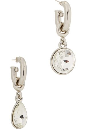 Paco Rabanne XL Link -tone drop earrings