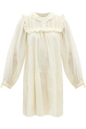 SEA Women Party Dresses - Adrienne Ruffled Cotton-poplin Mini Dress - Womens
