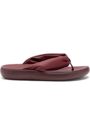 Ancient Greek Sandals Charisma Padded-strap Leather Flip Flops - Womens - Burgundy