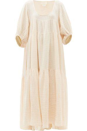 Anaak Nina Tiered Cotton-muslin Maxi Dress - Womens - Light