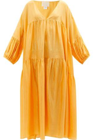 Anaak Airi Pintuck-pleated Silk Maxi Dress - Womens