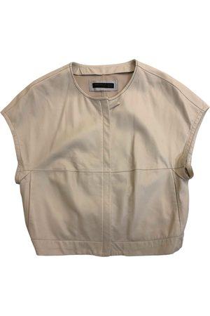 Fabiana Filippi Ecru Leather Jackets