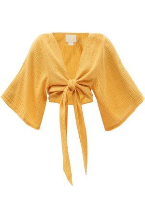 Anaak Women Crop Tops - Anekka Cotton-gauze Cropped Top - Womens