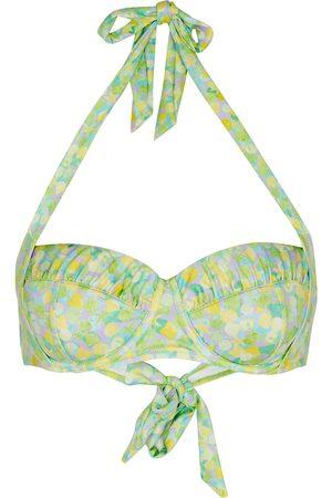 RIXO Jenny printed halterneck bikini top