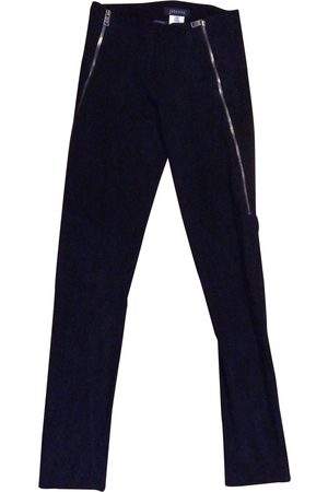 JITROIS Navy Suede Trousers