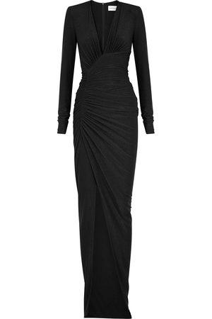 Alexandre Vauthier Metallic-weave gown