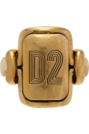 Dsquared2 Gold Vintage 'D2' Ring