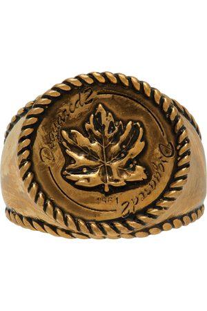 Dsquared2 Gold Vintage Leaf Ring