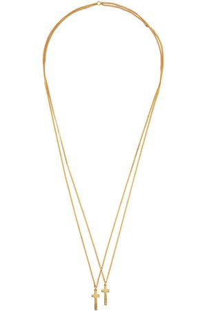 Dsquared2 Gold Double Cross Necklace