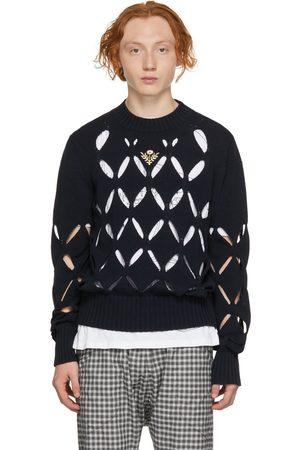 Stefan Cooke Diamond Slashed Sweater