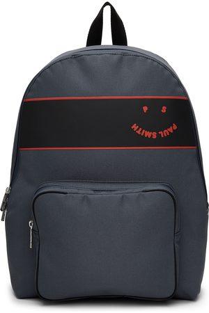 Paul Smith Navy Happy Logo Backpack