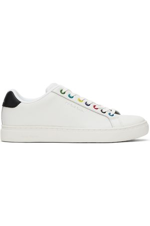 Paul Smith White & Multicolor Rex Low Sneakers