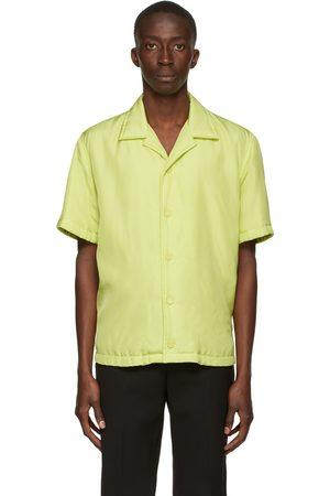 Bottega Veneta Green Printed Fluid Parachute Short Sleeve Shirt