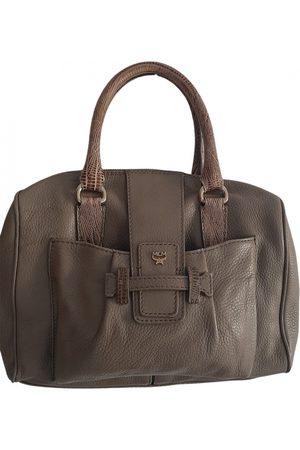 MCM Khaki Leather Handbags
