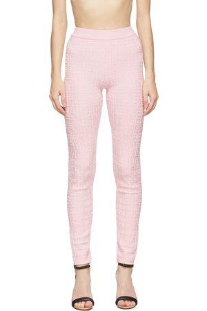 Givenchy Women Leggings - Pink Knit Logo Leggings