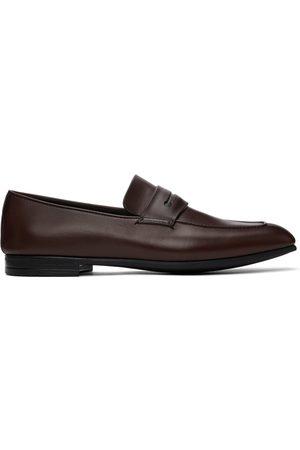 Ermenegildo Zegna Men Loafers - Brown Siena Flex Loafers