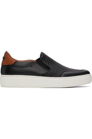 Ermenegildo Zegna Black Pelletessuta Tiziano Slip-On Sneakers