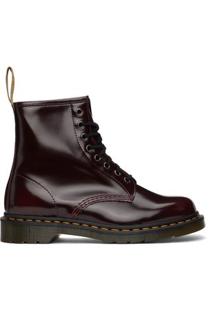 Dr. Martens Red Vegan 1460 Lace-Up Boots
