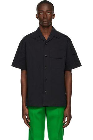 Bottega Veneta Black Cotton Short Sleeve Shirt