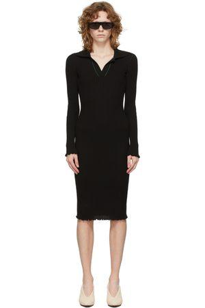 Bottega Veneta Black Cotton Rib Dress