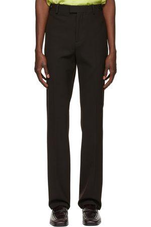 Bottega Veneta Brown Tech Wool Trousers
