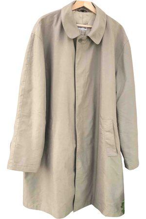 Cerruti 1881 Men Coats - Khaki Polyester Coats