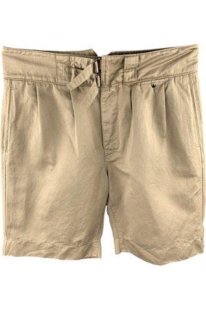 VALENTINO GARAVANI Khaki Cotton Shorts