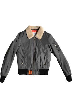 original bombers Khaki Synthetic Leather Jackets