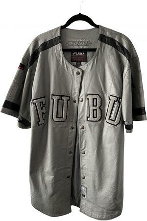 FUBU Grey Leather Jackets