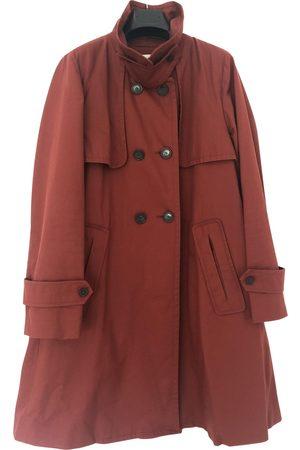 Bimba y Lola Women Trench Coats - Burgundy Cotton Trench Coats