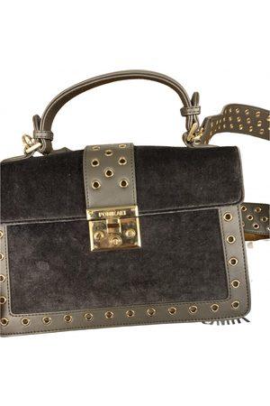 Pomikaki Women Purses - Grey Velvet Handbags