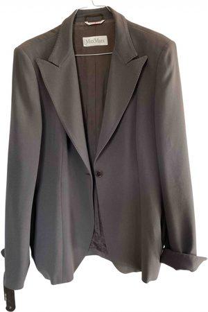 Max Mara Grey Synthetic Jackets