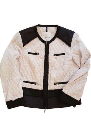 Moncler Ecru Polyester Leather Jackets